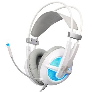 Audífonos Diadema mano libre SOMIC G938 para juegos Sonido 7.1 - Blanco