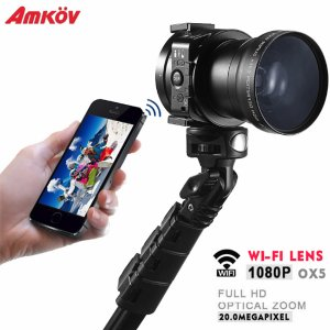 Lente cámara Amkov OX5 para celulares - Negro