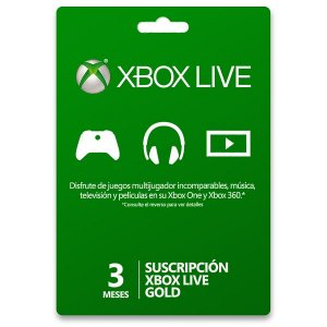 Gift card xbox live 3 meses