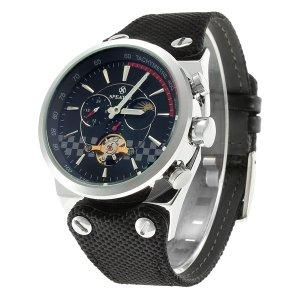 SPEATAK SP9050G Mecánico Relojes Mecánicos de Hombre Planteado y Negro