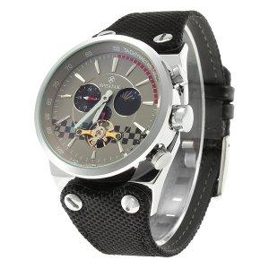 SPEATAK SP9050G Mecánico Relojes Mecánicos de Hombre Planteado y Gris y Negro