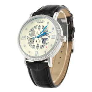 Relojes Mecánicos CJIABA GK8030 de Hombres Blanco + Plateado